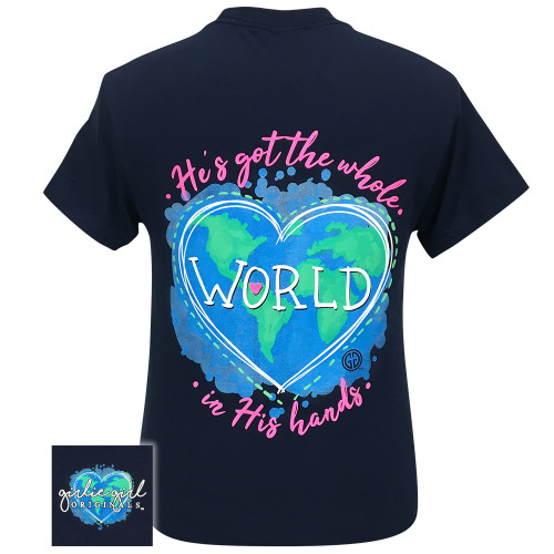 Girlie Girl Originals Whole World In His Hands Navy