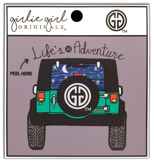 Girlie Girl Originals Life's an Adventure Decal