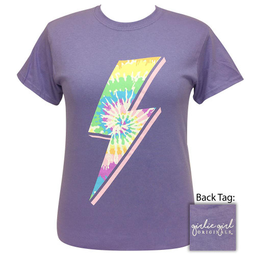 Girlie Girl Originals Tie Dye Bolt Violet