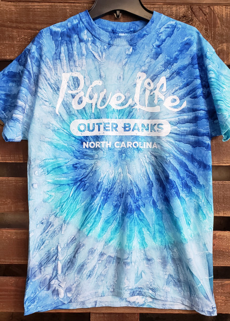 Daydream Tees Pogue Life Blue Tie-Dye