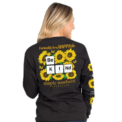 Simply Southern Kind Sunflower Black LS