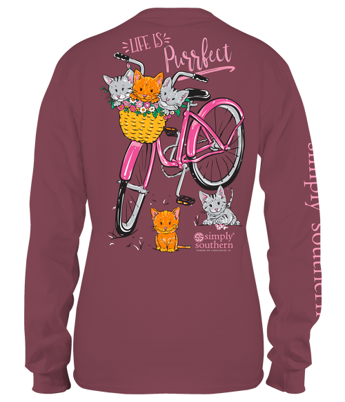 Simply Southern Purrfect Maroon LS