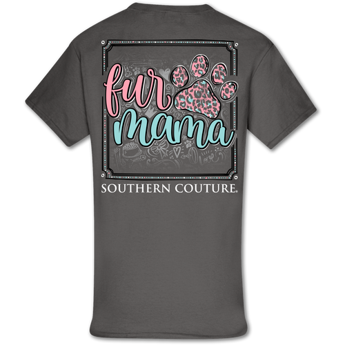 Southern Couture Fur Mama Paw Charcoal