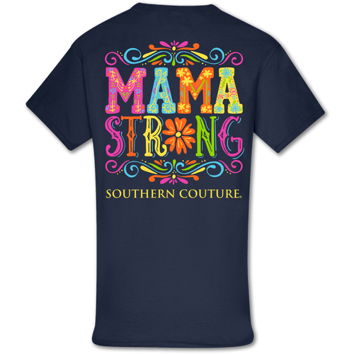 Southern Couture Mama Strong Navy