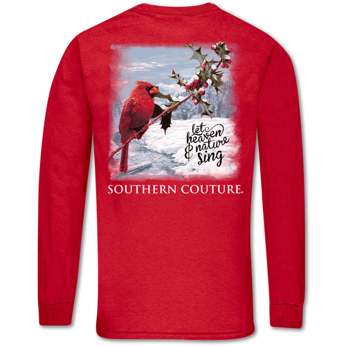 Southern Couture Heaven & Nature Red Long Sleeve