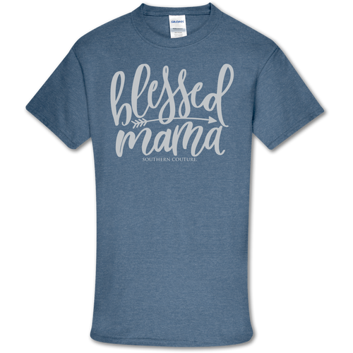 Southern Couture Blessed Mama Heather Indigo