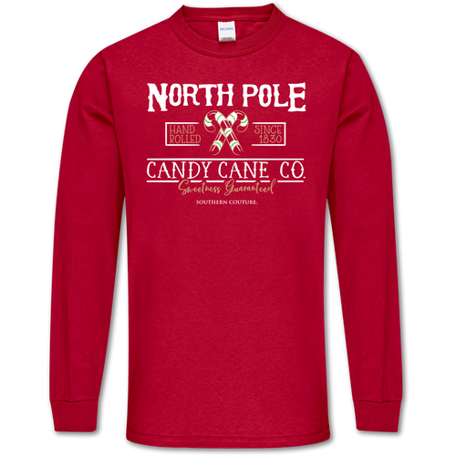 Southern Couture North Pole Cherry Red Long Sleeve