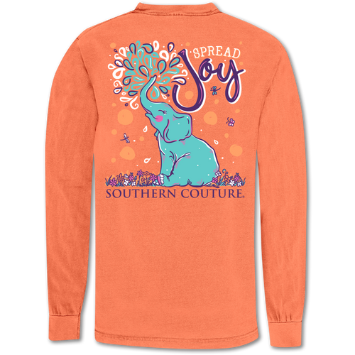 Southern Couture Spread Joy Melon Long Sleeve