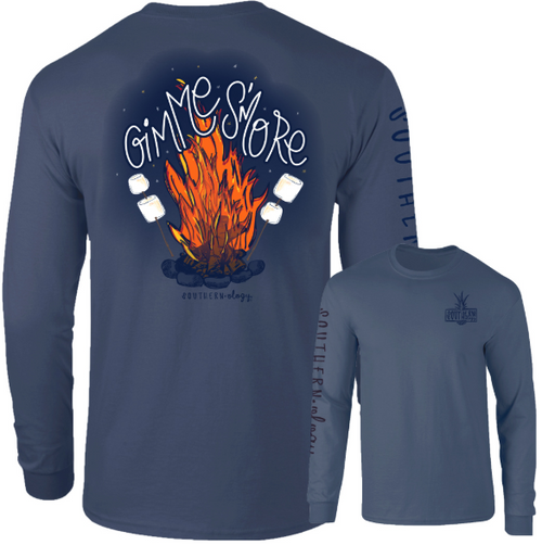 Southernology Gimme Smore Firepit Denim Long Sleeve