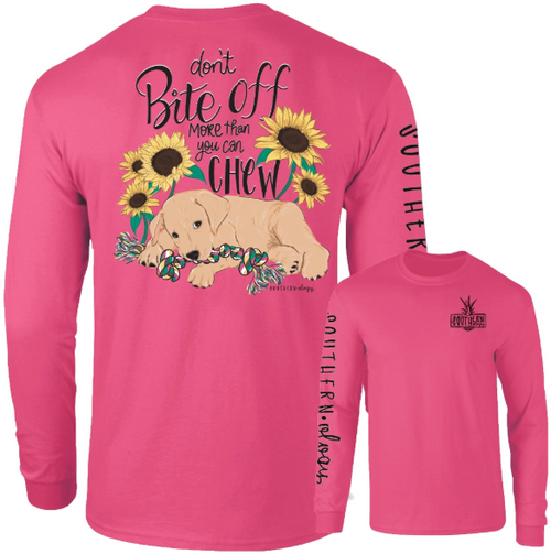 Southernology Don't Bite off More Than You Can Chew Crunchberry Long Sleeve