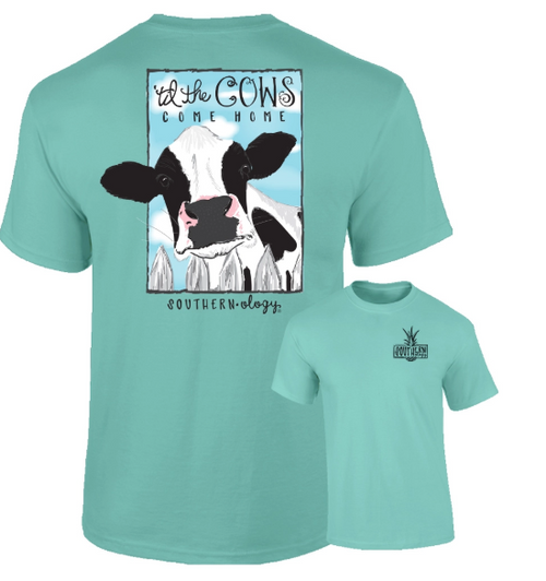 Southernology Till The Cows Come Home Chalky Mint Short Sleeve