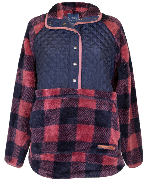 Simply Southern Quilted Yoke Sherpa Plaid