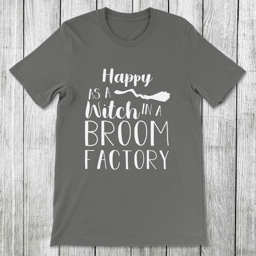 Daydream Tees Witch In A Broom Factory
