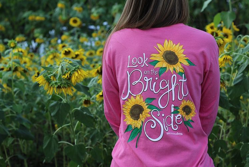 Southernology Look On The Bright Side Pink Long Sleeve
