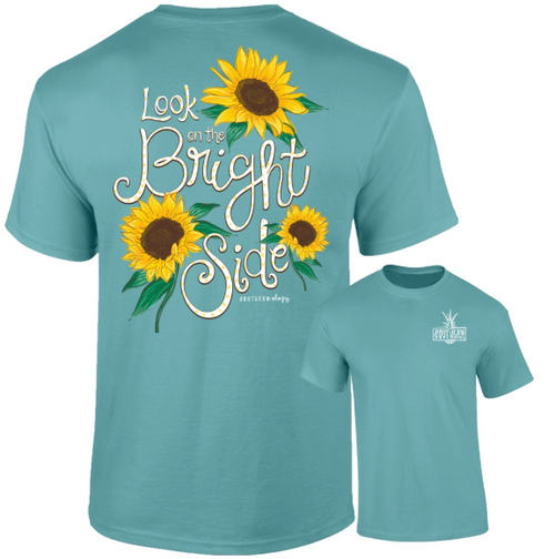 Southernology Look on the Bright Side Sea Foam Short Sleeve