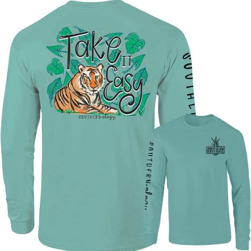 Southernology Take it Easy Tiger Chalky Mint Long Sleeve