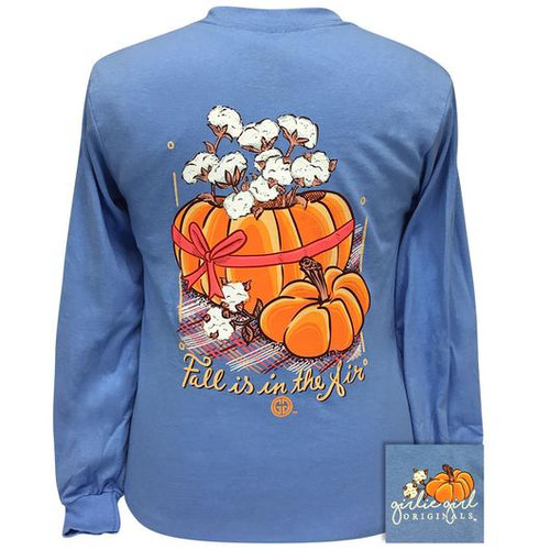 Girlie Girl Originals Cotton Pumpkin Carolina Blue LS