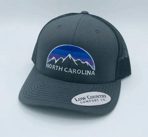 Low Country NC Mountain Skyline Charcoal/Black Hat