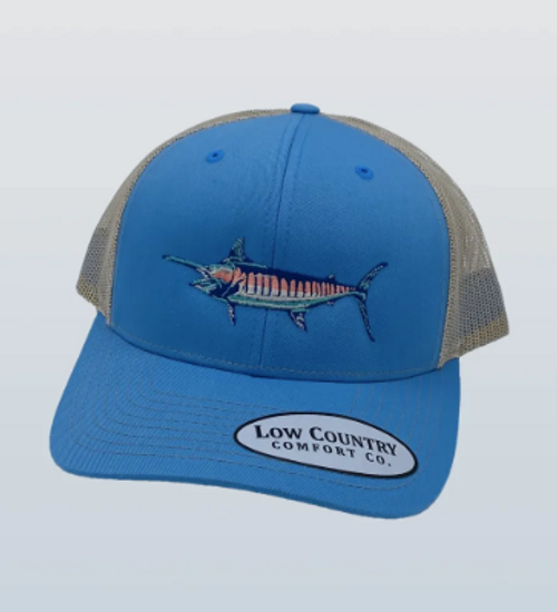 Low Country Marlin Columbia Blue/Khaki Hat