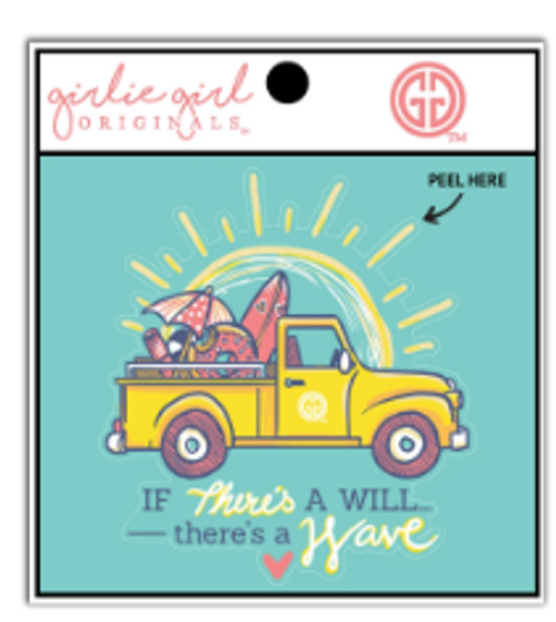Girlie Girl Originals There's a Wave Decal