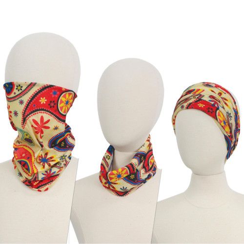 Floral Paisley Multi-Functional Headband