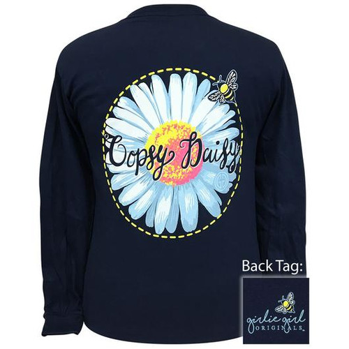 Girlie Girl Originals Oopsy Daisy Navy LS