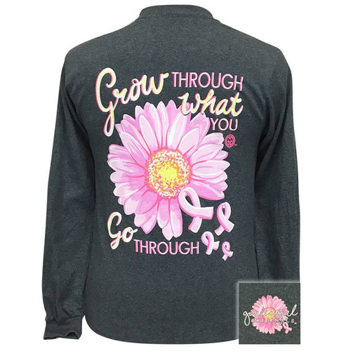 Girlie Girl Originals Grow Through Dark Heather LS