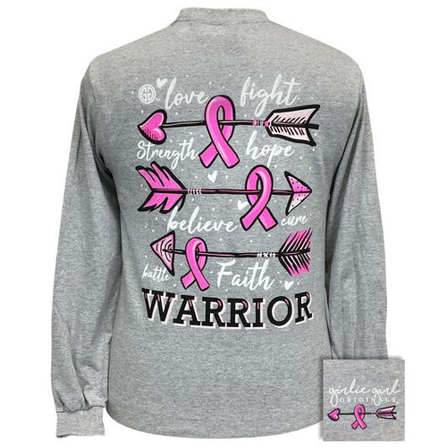 Girlie Girl Originals Cure Warrior Sport Grey LS