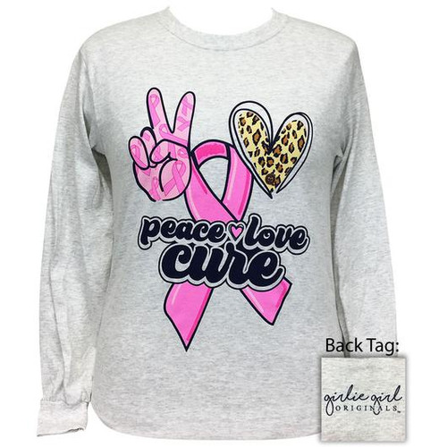 Girlie Girl Originals Peace Love Cure Ash LS