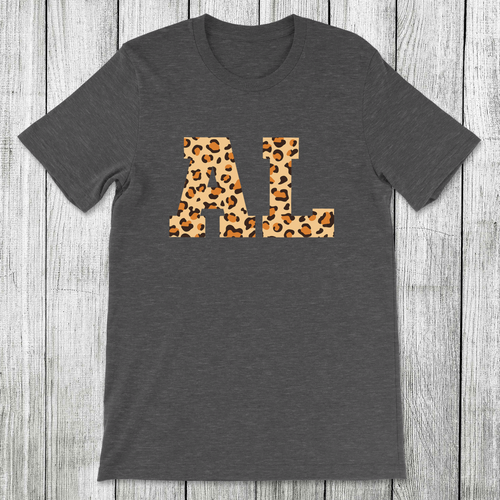 Daydream Tees State Leopard Alabama