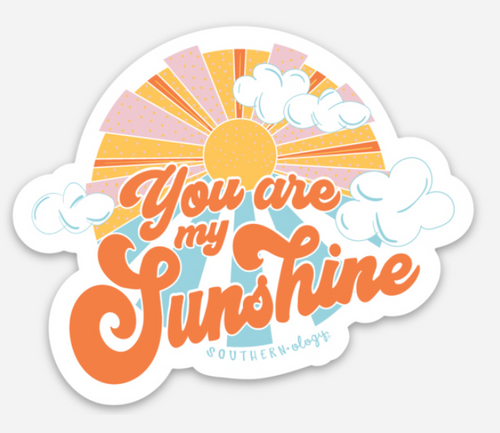Southernology You Are My Sunshine Decal