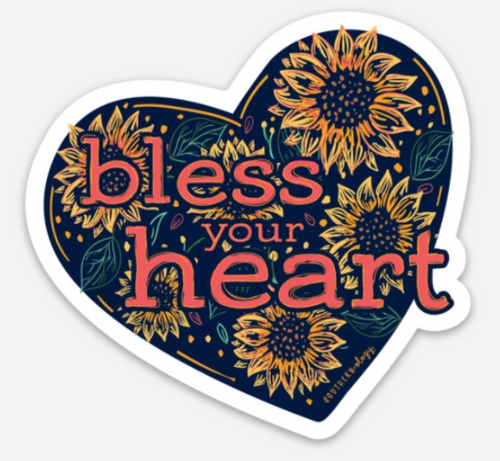 Southernology Sunflower Bless Your Heart Decal