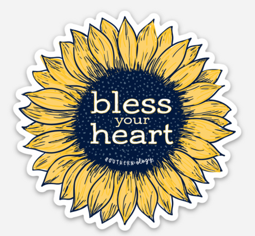 Southernology Bless Your Heart Flower Decal