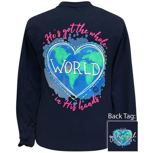 Girlie Girl Originals World In His Hands Navy LS