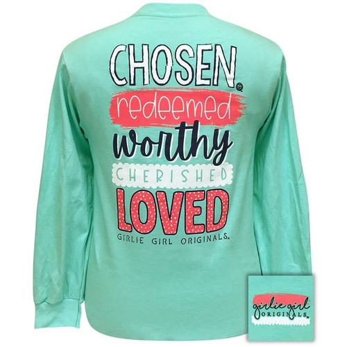 Girlie Girl Originals Chosen Redeemed Celadon LS