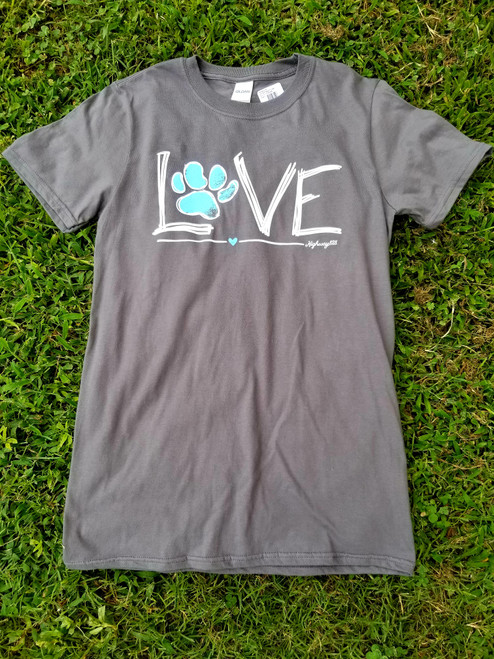 Highway 828 Soft Pawprint Love Charcoal