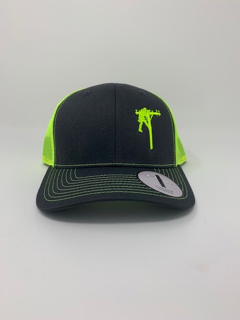 Crossroads Clothing Lineman Charcoal/Neon Yellow Hat