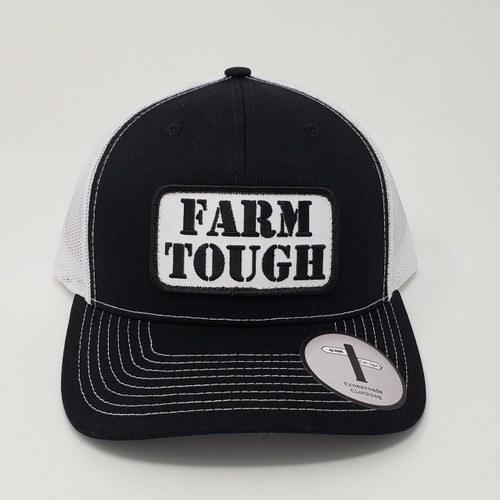 Crossroads Clothing Farm Tough Patch Black/White Hat