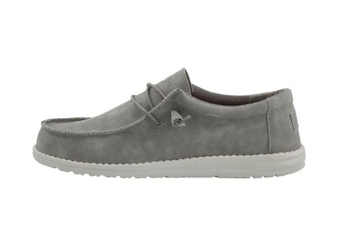 Hey Dude Wally Recycled Leather Grey