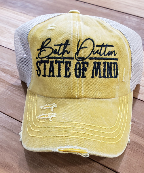 C.C. Criss Cross Hat State Of Mind Mustard