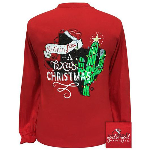 Girlie Girl Originals Texas Christmas Red LS