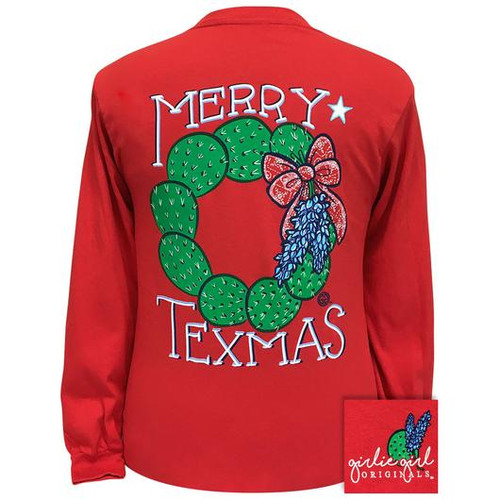 Girlie Girl Originals Merry Texmas Red LS