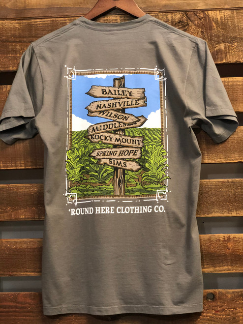 Round Here Clothing Crossroads Graphite Tee