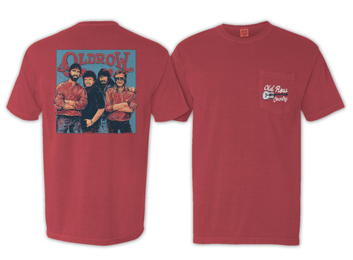 Old Row Mountain Music Pocket Tee Red