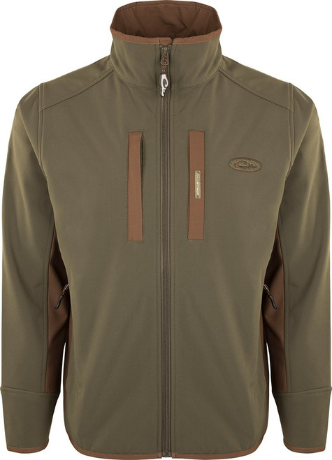 Drake Windproof Tech Jacket Olive/Brown