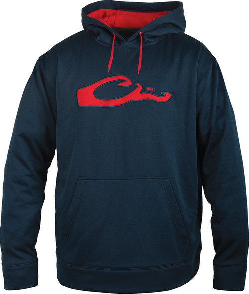 Drake Performance Hoodie Navy/ Red