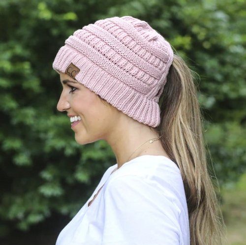 C.C. Criss Cross Beanie Rose