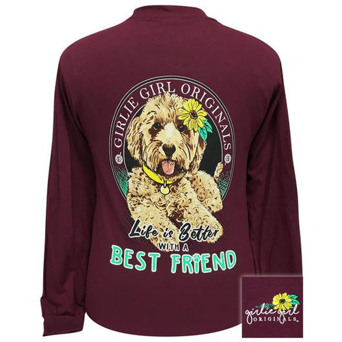 Girlie Girl Originals Best Friend Maroon LS