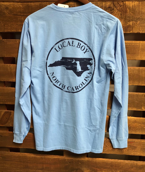Local Boy Outfitters State NC LS Washed Denim