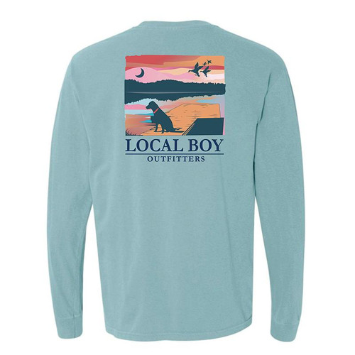 Local Boy Outfitters Lab on Dock LS Chalky Mint